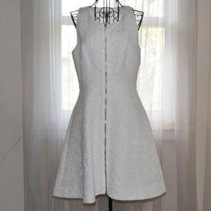 White Anthropologie Leifsdottir High Tea Dress